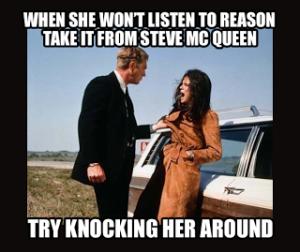 Steve McQueen Slapping a woman